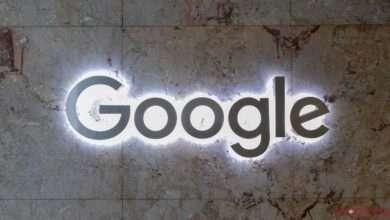 Nombre de Google con tecnología de luces