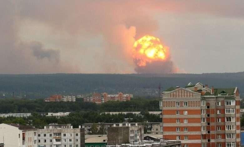 explosion por prueba de un misil en rusia