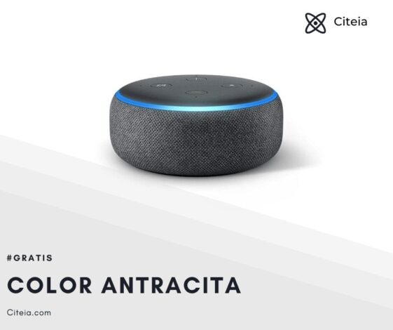 echo dot 3ra generación color antracita citeia