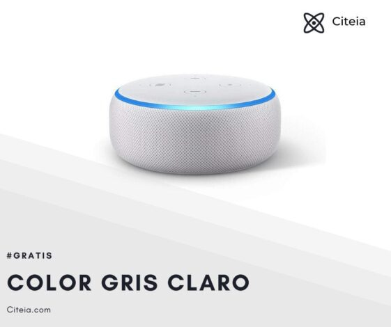 echo dot 3ra generación color gris claro