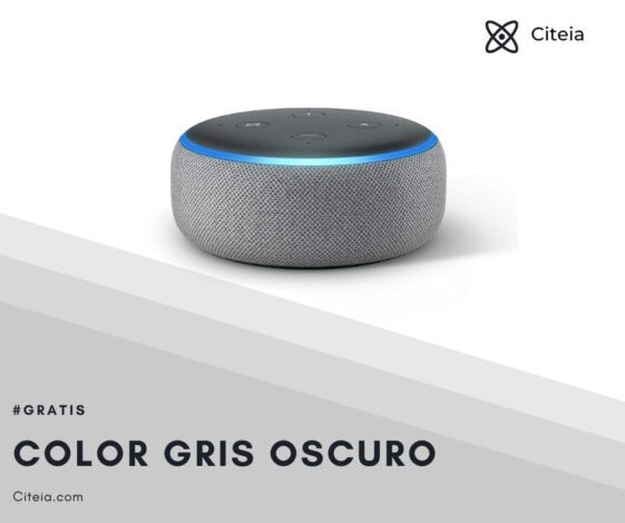 echo dot 3ra generación color gris oscuro