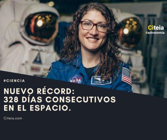 Christina Koch 328 dias en el espacio