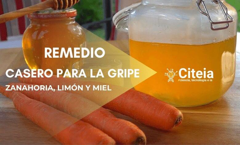remedio casero para la gripe, zanahoria miel y limón. Portada de artículo
