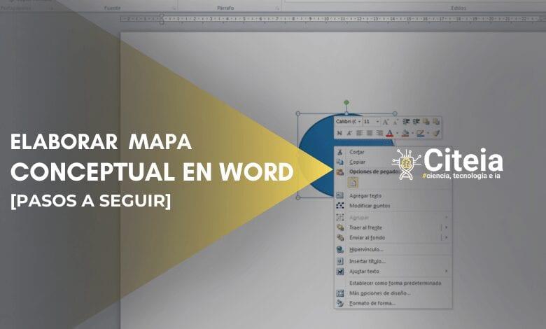 elaborar mapa conceptual en word portada de artículo