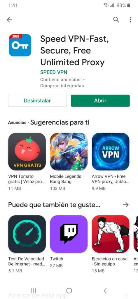 Abrir speed vpn para jugar LOL en el celular