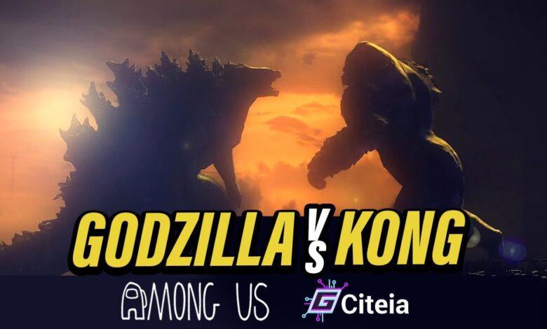 Mod Kong vs Godzilla para Among us portada de articulo