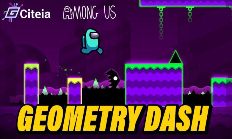 Geometry Dash mod Among us