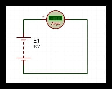 análisis de un circuito eléctrico en cortocircuito