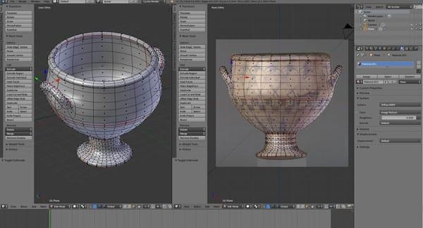 Ejemplo de un modelado en 3D con el programa Blender