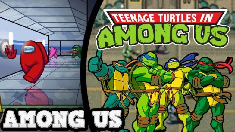 Mod Las Tortugas Ninja para Among Us portada de artículo