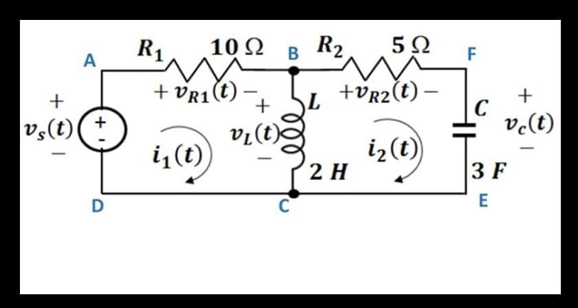 red electrica 2 mallas de la ley de Kirchhoff