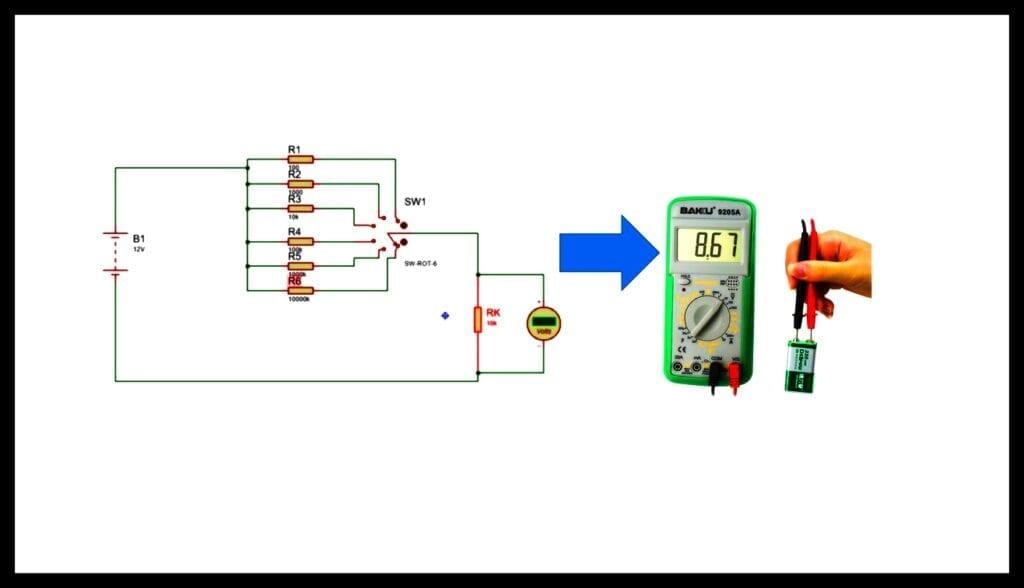 Voltímetro Digital instrumentos de medición eléctrica