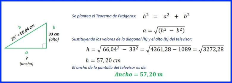 Ejercicio 4- solución con teorema de pitagora