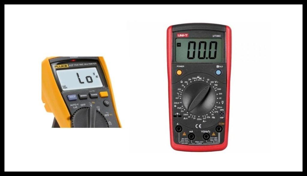 Multímetro Auto rango y escala Manual