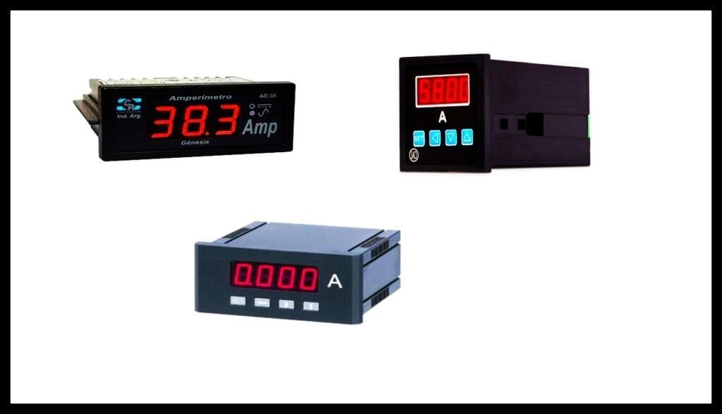 Amperímetro Digital instrumentos de medición eléctrica