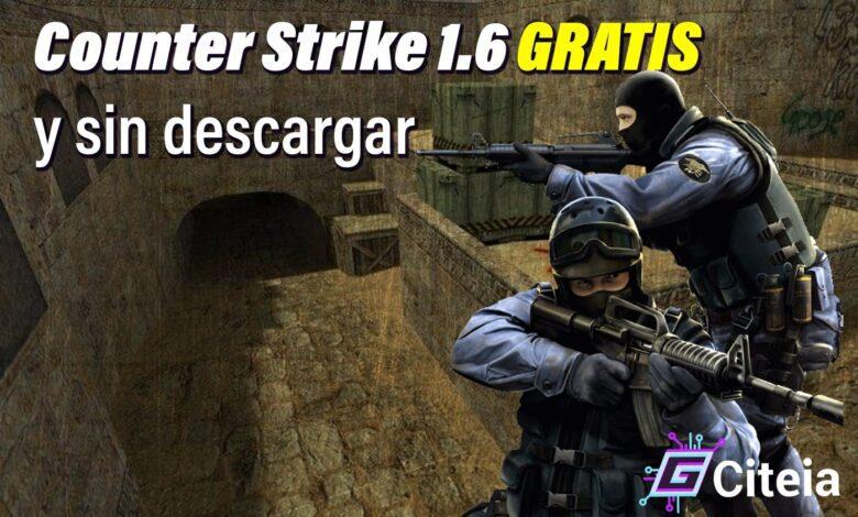 counter strike 1.6 gratis y sin descaragar portada de artículo