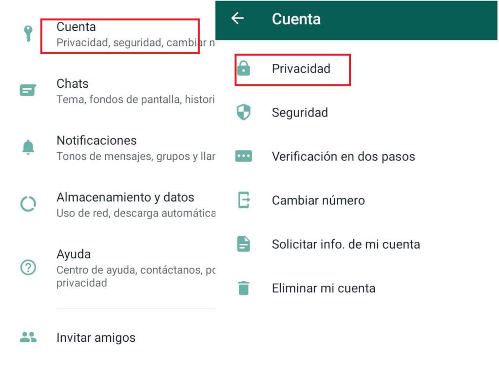 configuración de privacidad whatsapp para ver estados de whatsapp sin ser visto