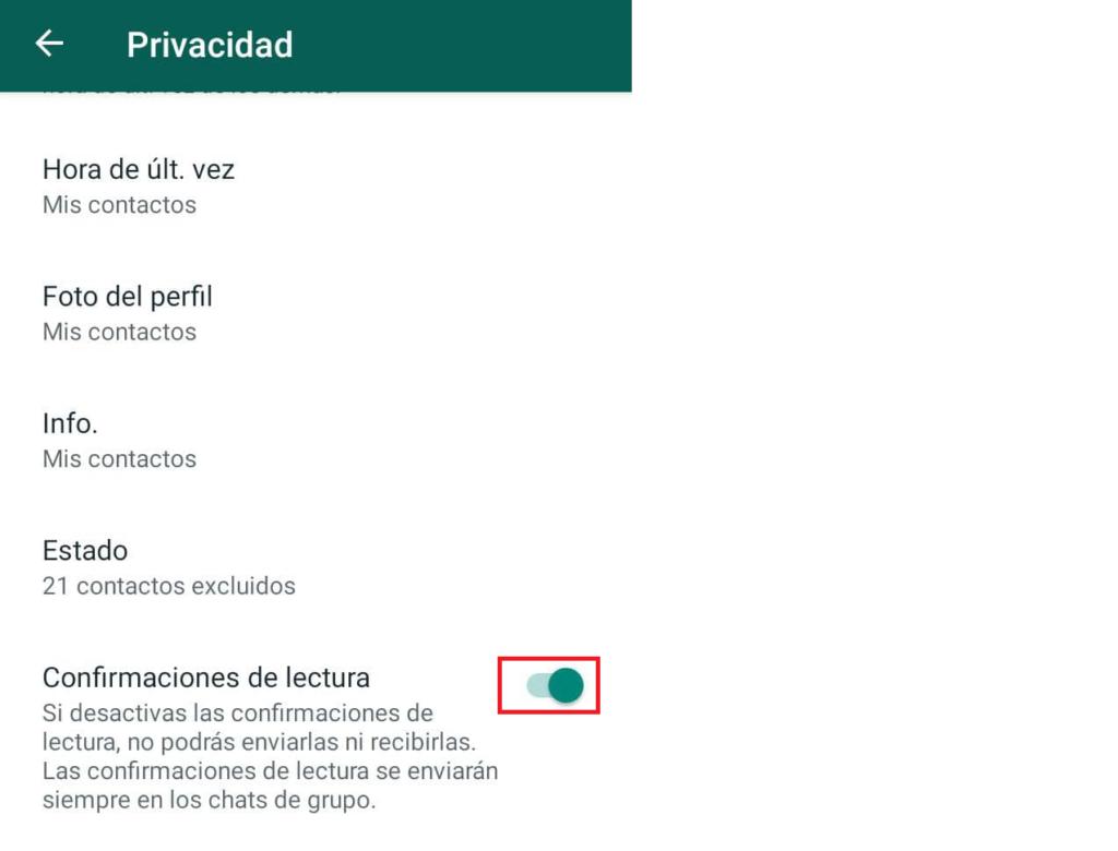 desactivar lectura de mensajes para ver estados de whatsapp sin dejar rastro