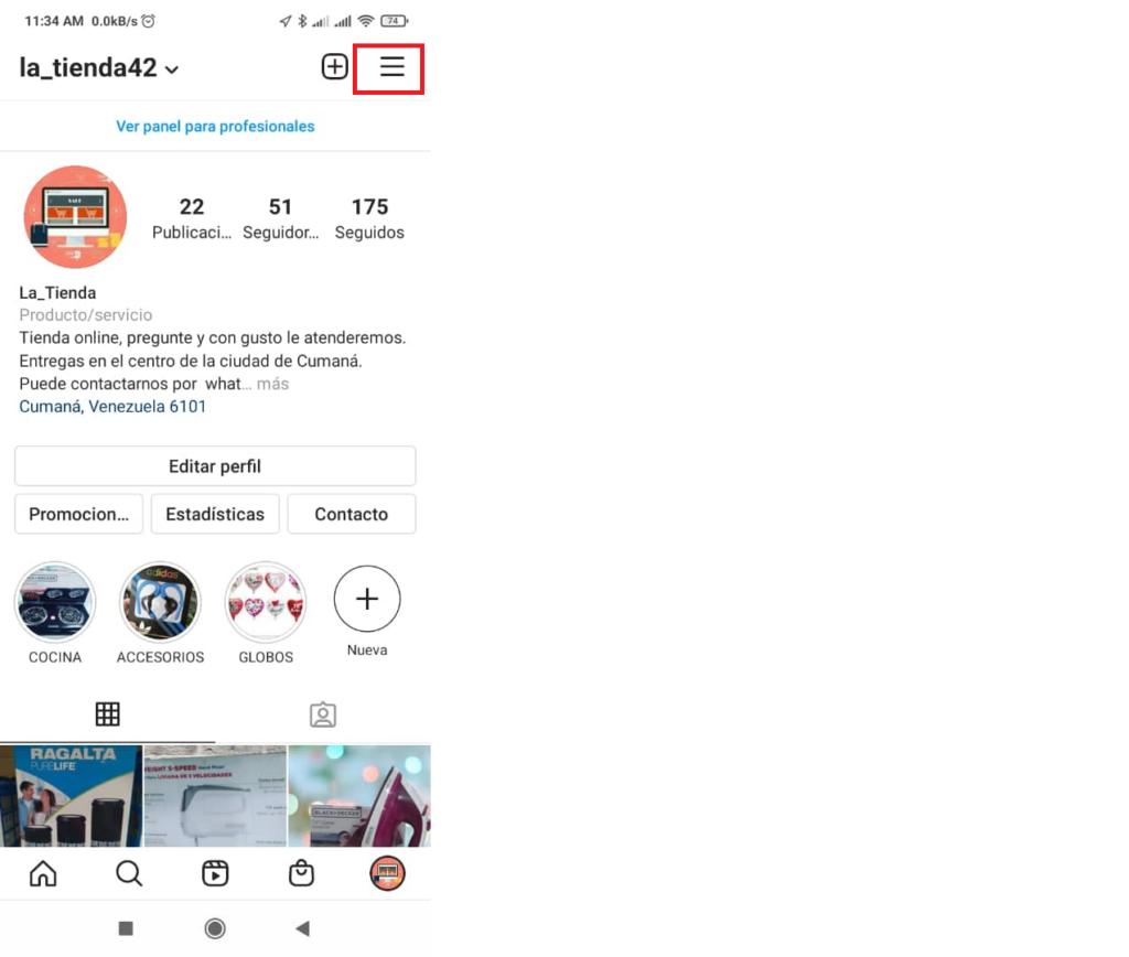 pasos para configurar recuento de me gusta en instagram