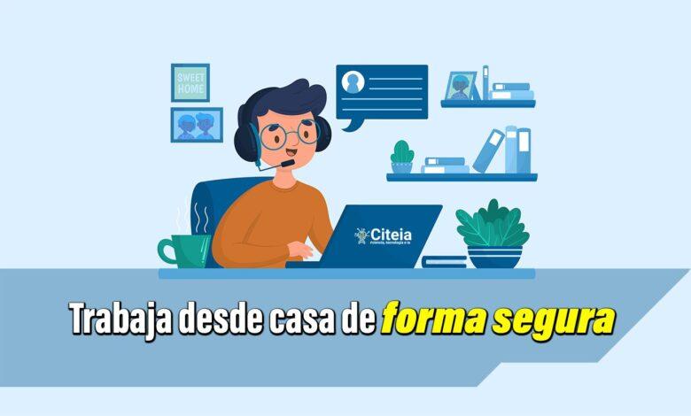 trabajar desde casa de forma segura sin amenazas digitales