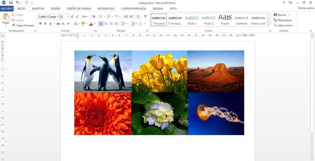 cómo hacer un collage en word paso 2